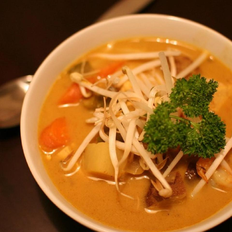 Vietnamese Style Vegetarian Curry Soup