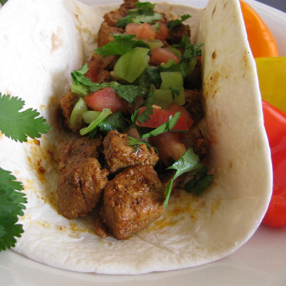 Pork Carnitas with Cilantro Tomatillo Sauce