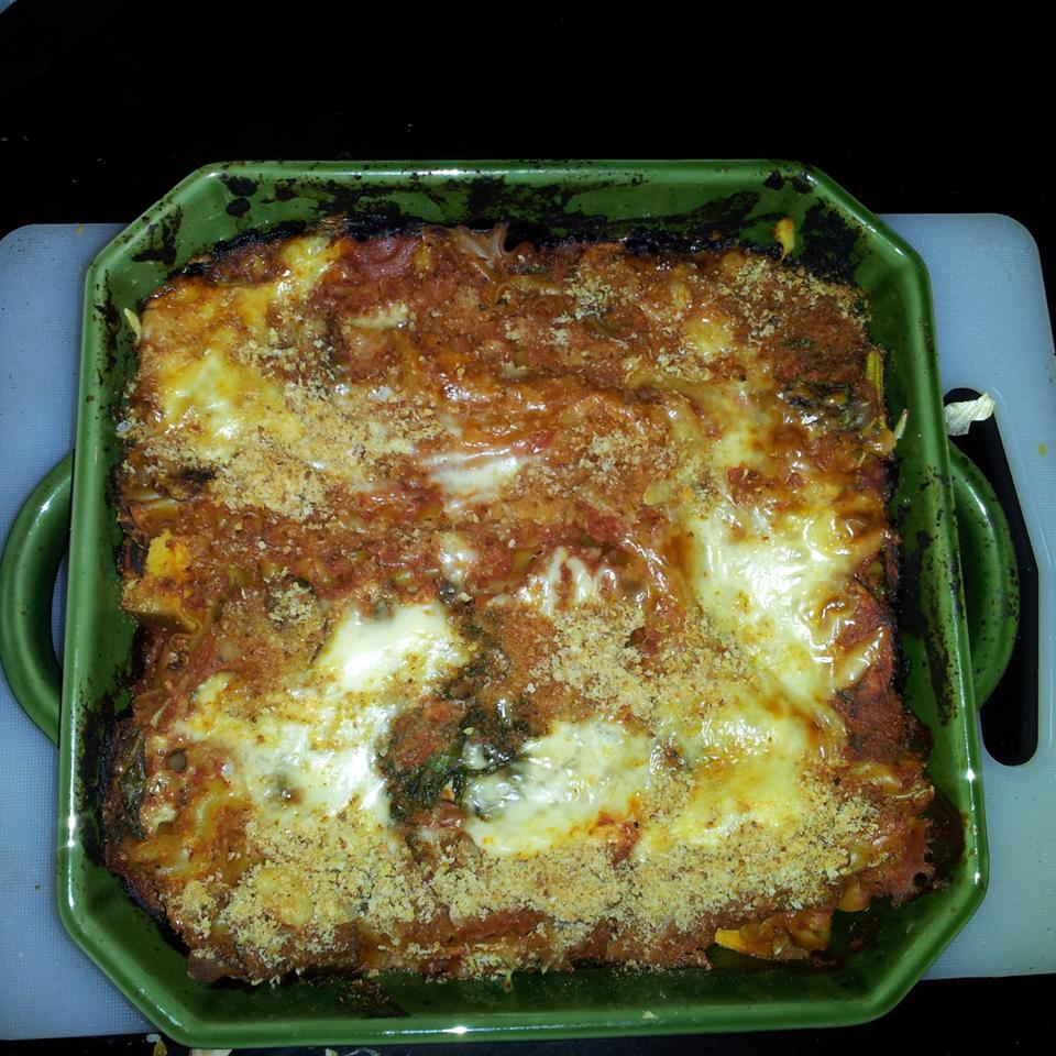 Smoky Eggplant-Kale Vegetarian Lasagna