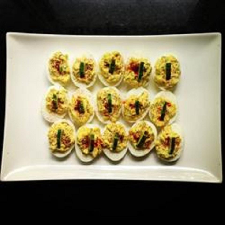 Deviled Eggs with Dill and Prosciutto