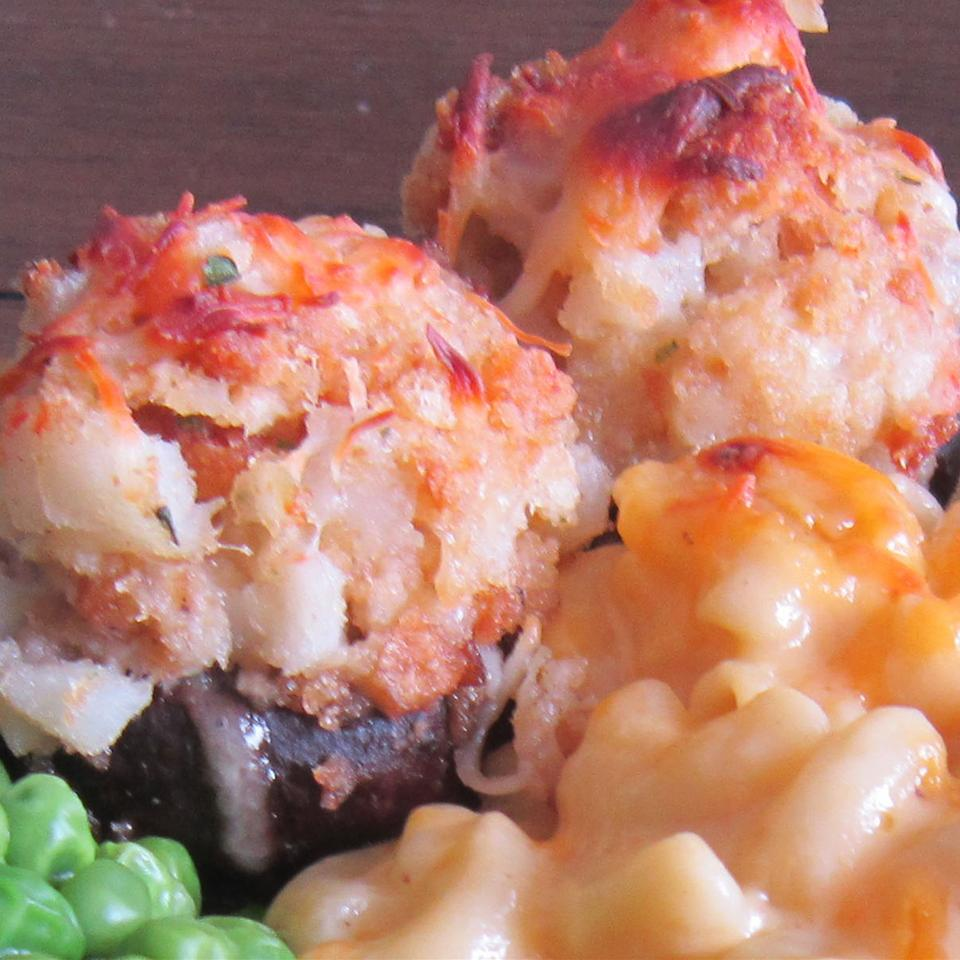 Crab and Lobster Stuffed Mushrooms KJ