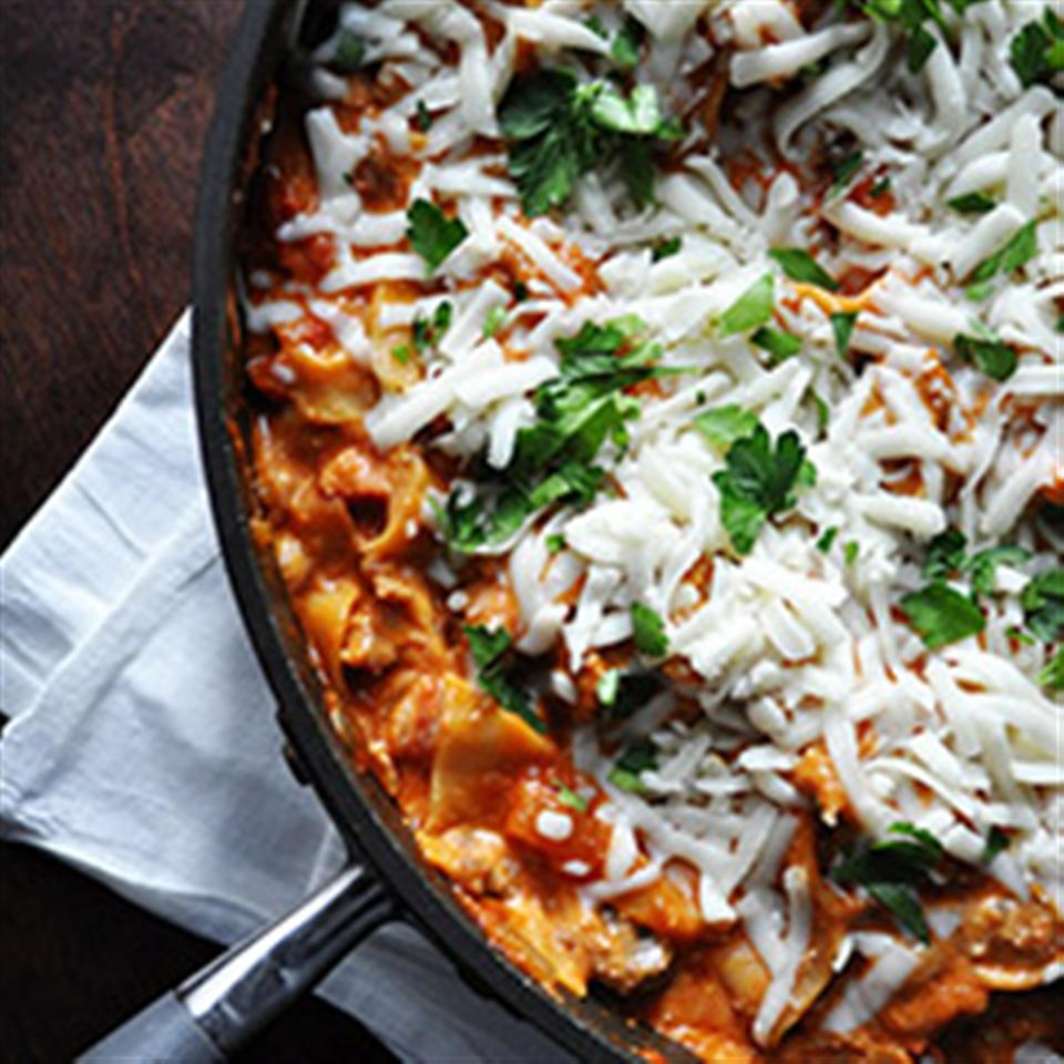 Easy Cheesy Skillet Lasagna Allrecipes Trusted Brands