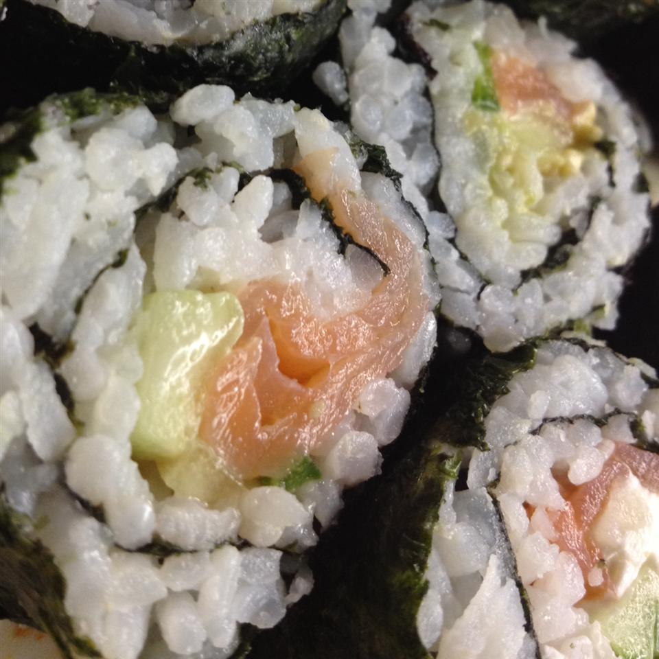 Smoked Salmon Sushi Roll