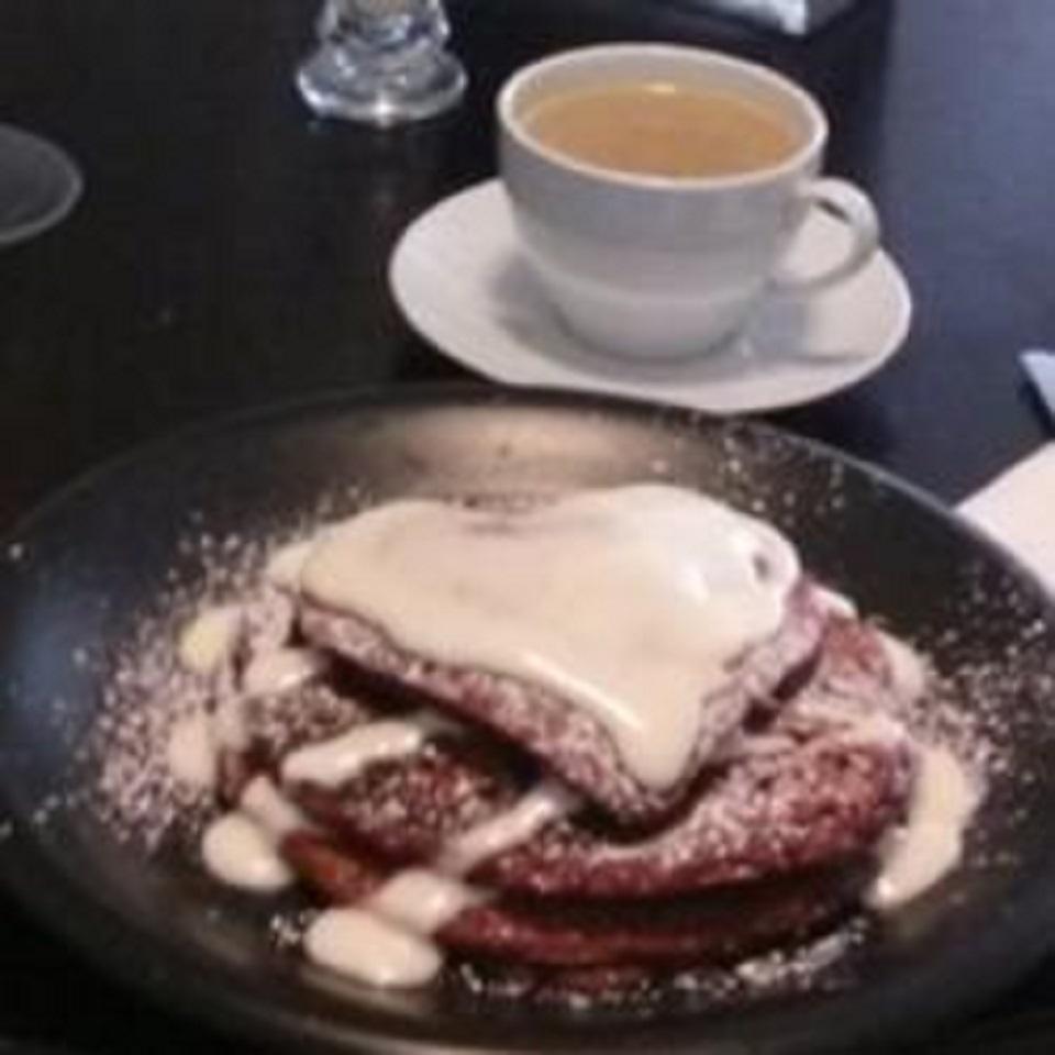 Dessert for Breakfast - Red Velvet Pancakes