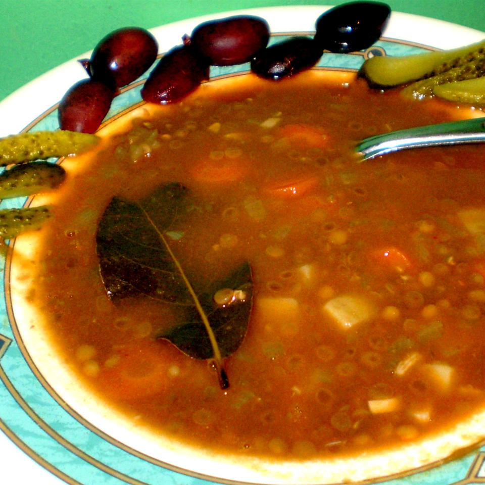 Hearty Lentil and Sausage Soup STAMAR