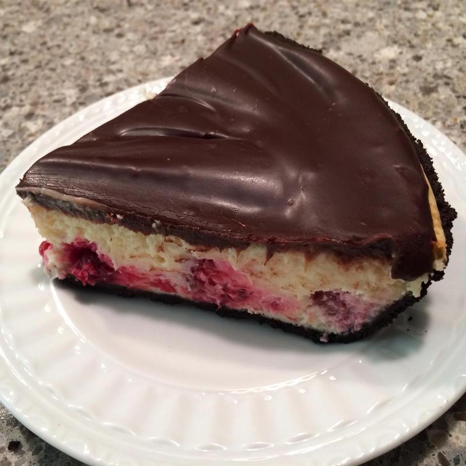 Easy Chocolate-Raspberry Cheese Pie
