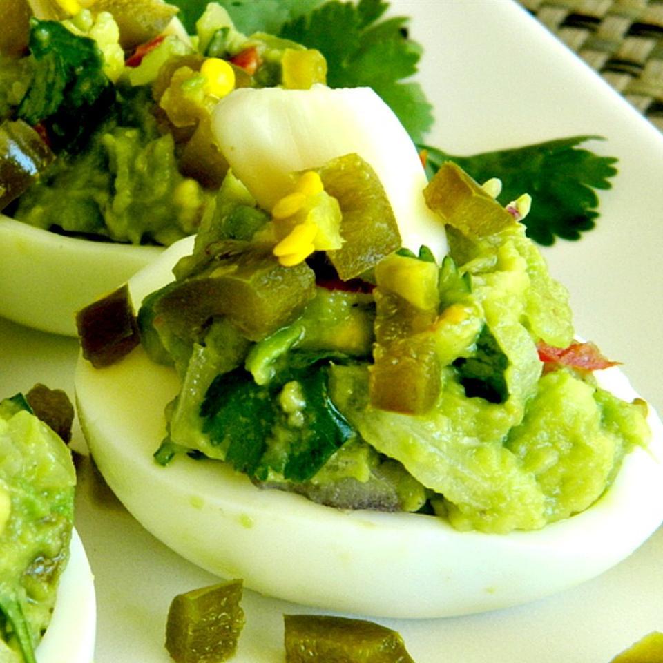 Devilishly Different Green Deviled Eggs Marianne