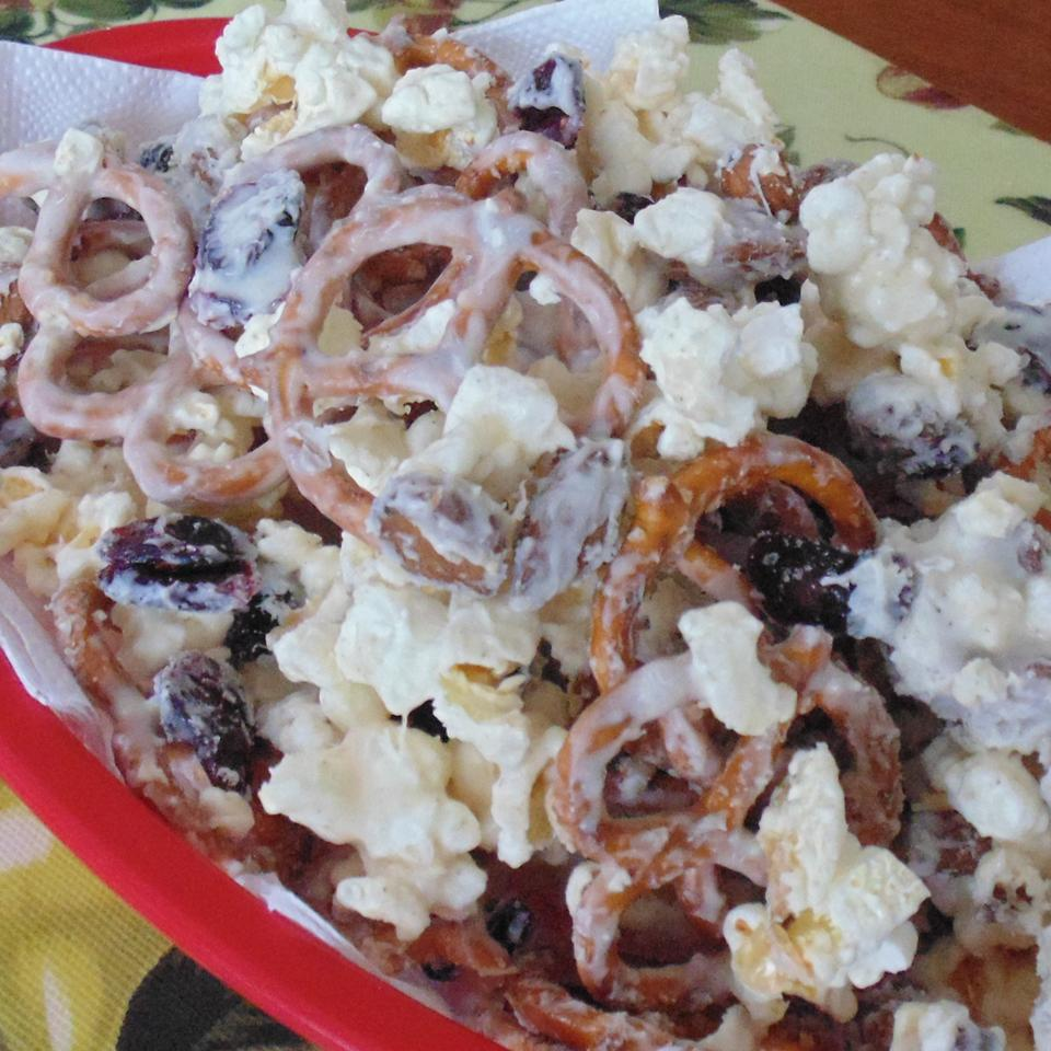Ashley and Whitney's Popcorn and Pretzel Sweet Snack Mix Christina