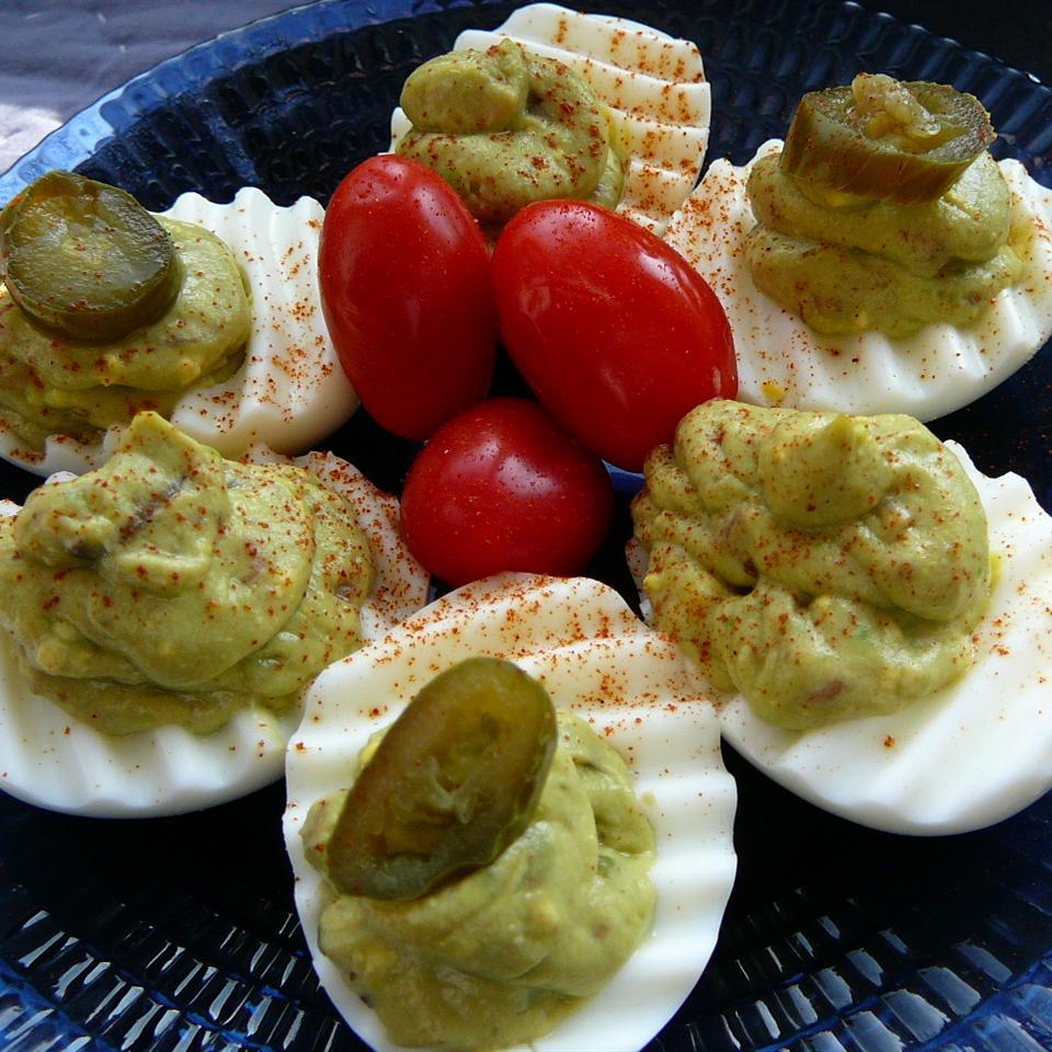 Avocado Deviled Eggs Molly