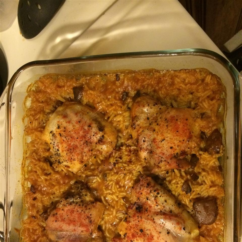 One Dish Chicken and Rice Bake Mike