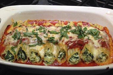 Spinach Cheese Manicotti Recipe Allrecipes