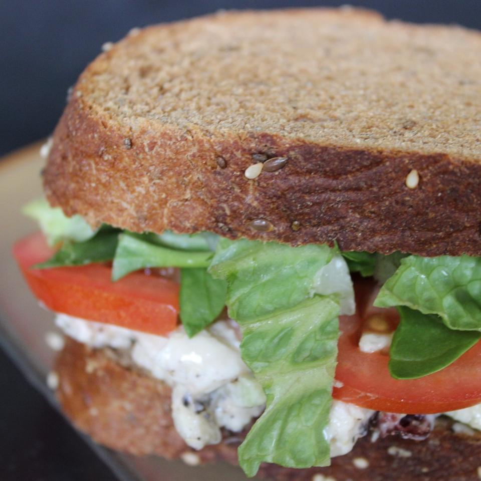Grilled Chicken Salad Sandwich mommyluvs2cook