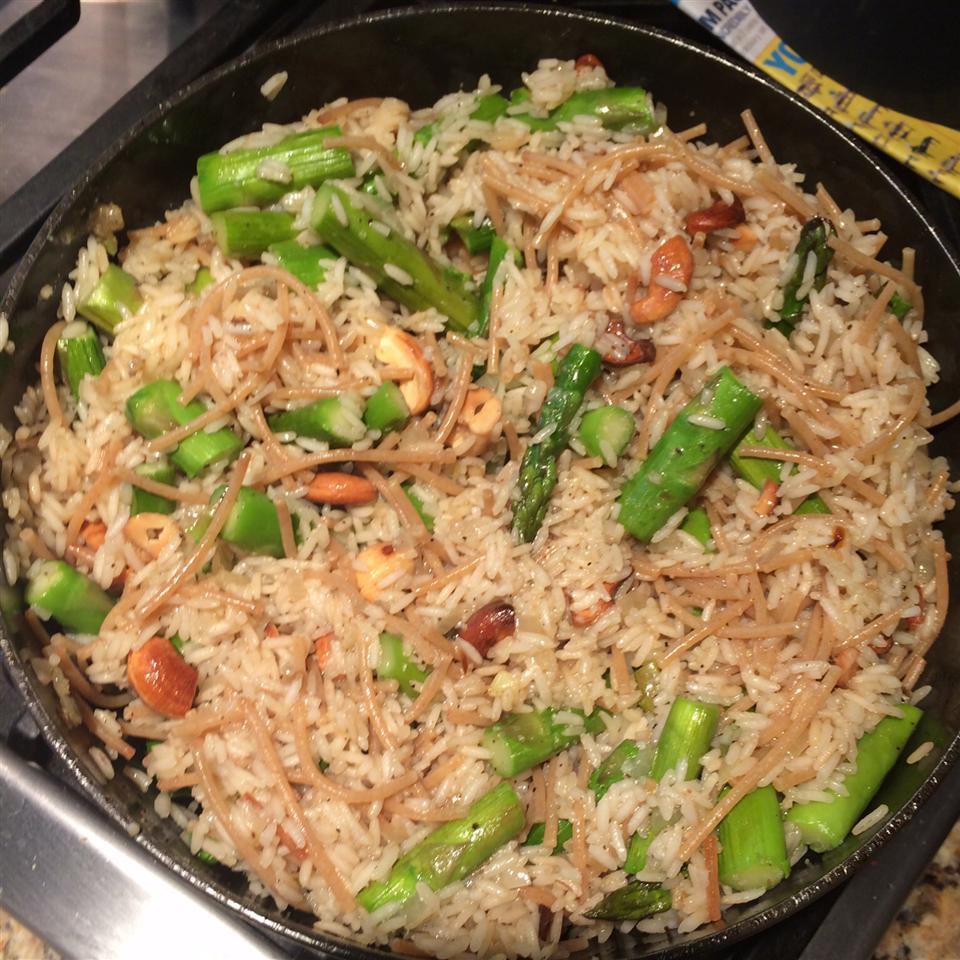 Asparagus Cashew Rice Pilaf Nish84