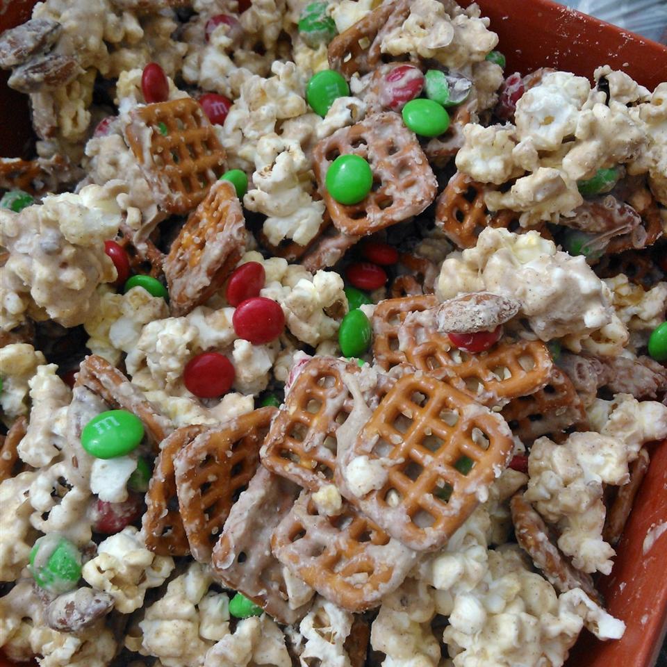Ashley and Whitney's Popcorn and Pretzel Sweet Snack Mix Patty Cakes