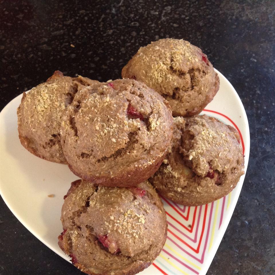Mimi's Giant Whole-Wheat Banana-Strawberry Muffins
