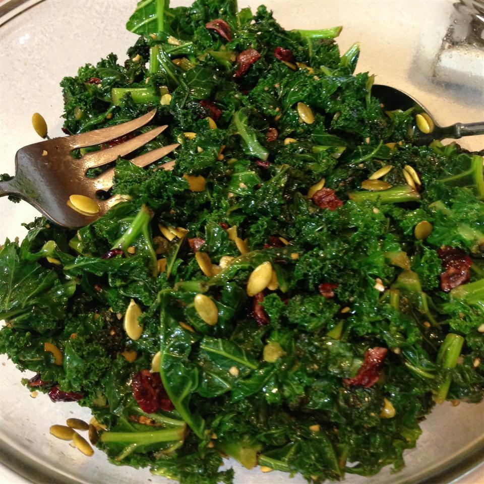 Kale Cranberry Pepita Salad Michellecv