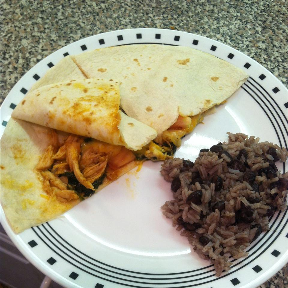 Barbecued Chicken Quesadillas BeccaBeauty25