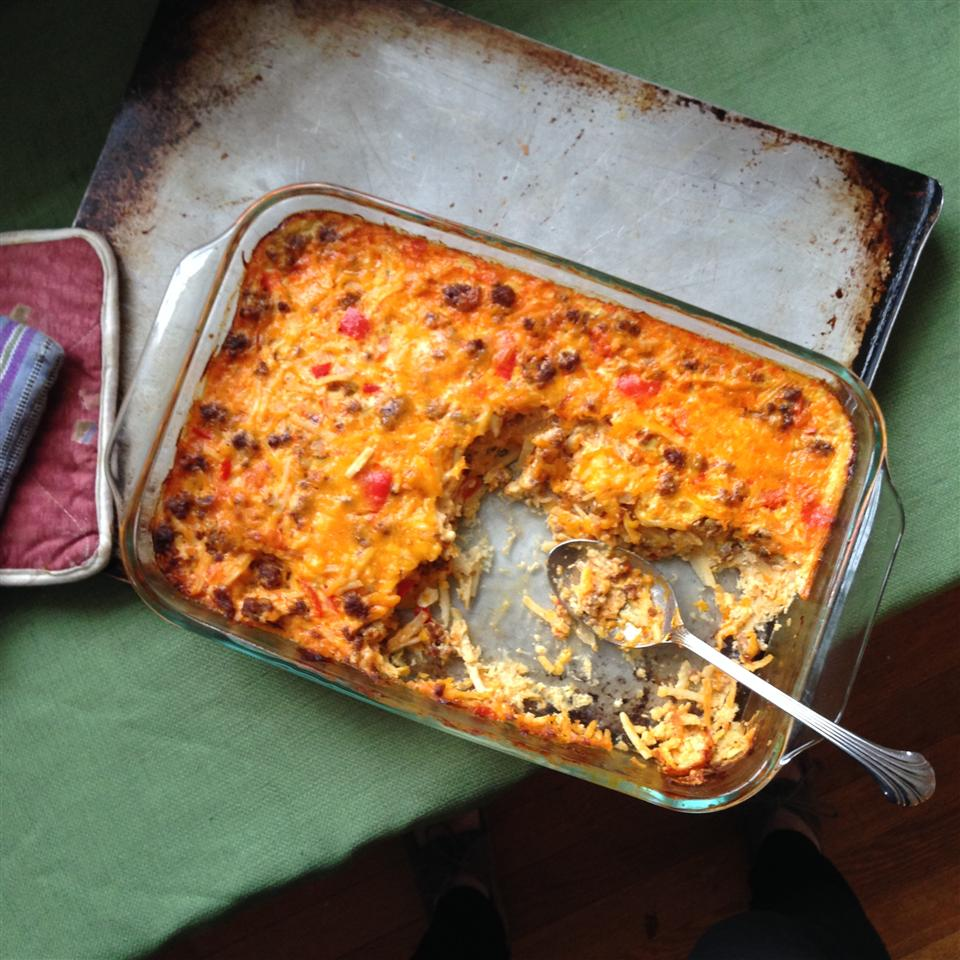 Gluten-Free Spicy Breakfast Casserole