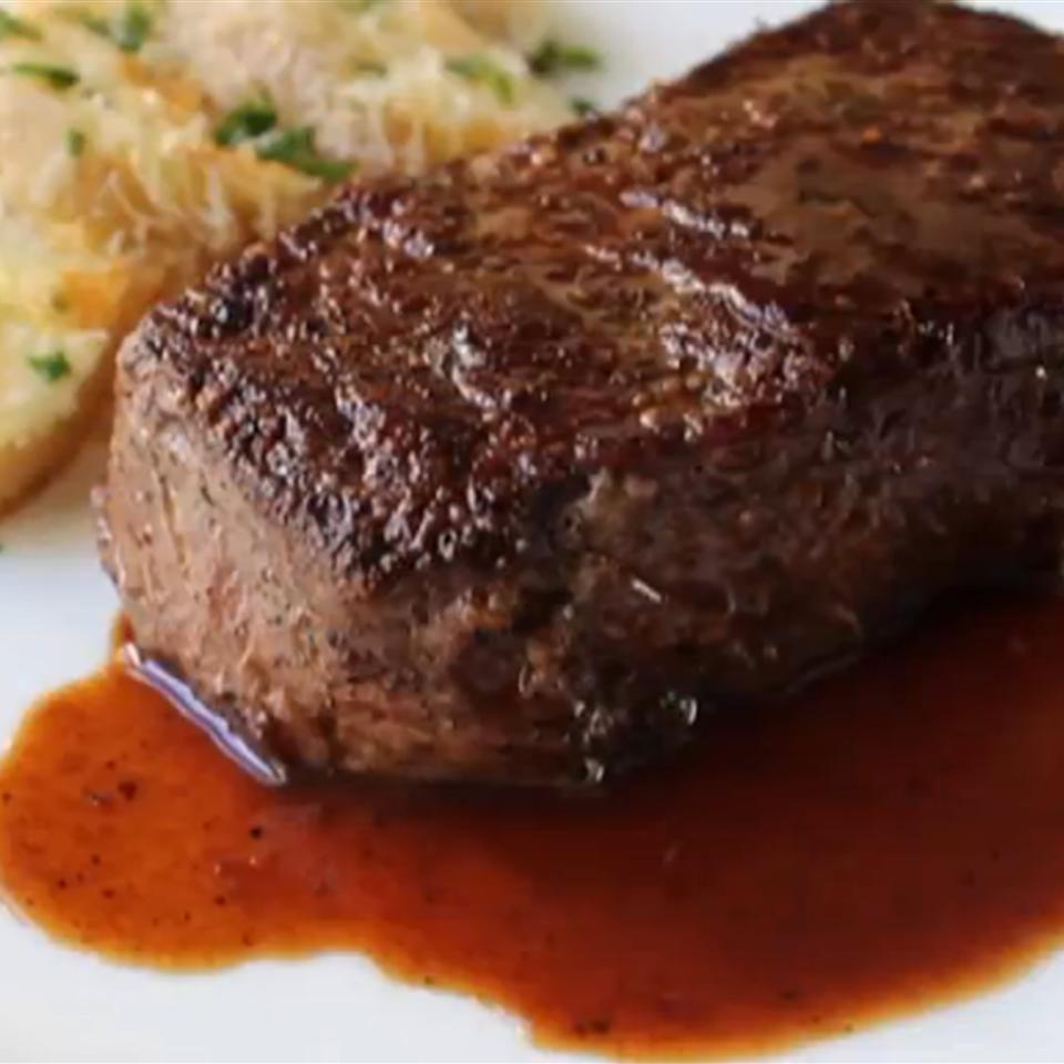 Manhattan Filet with Pan Sauce Bordelaise Chef John