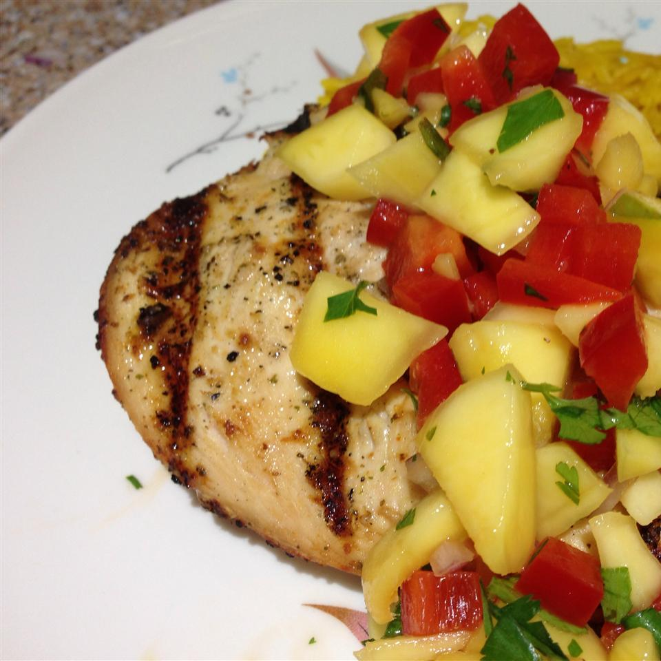 Spicy Grilled Chicken with Mango Salsa