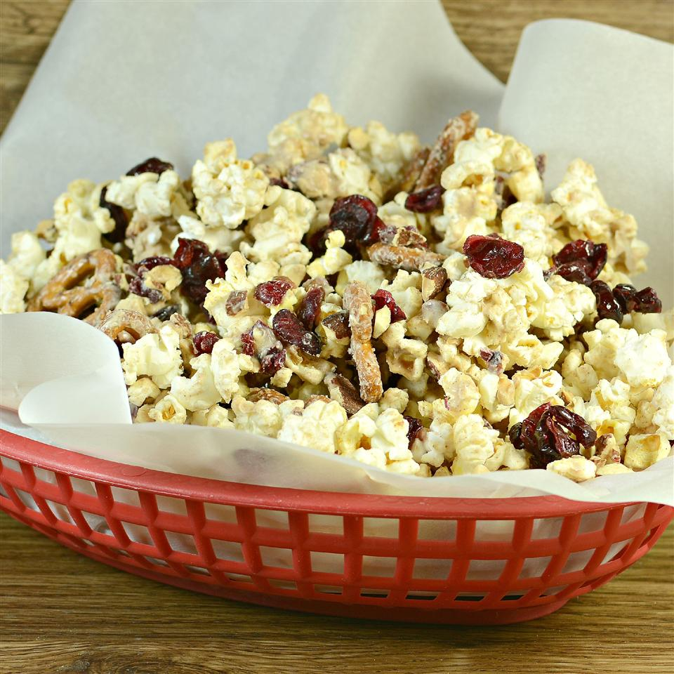 Ashley and Whitney's Popcorn and Pretzel Sweet Snack Mix