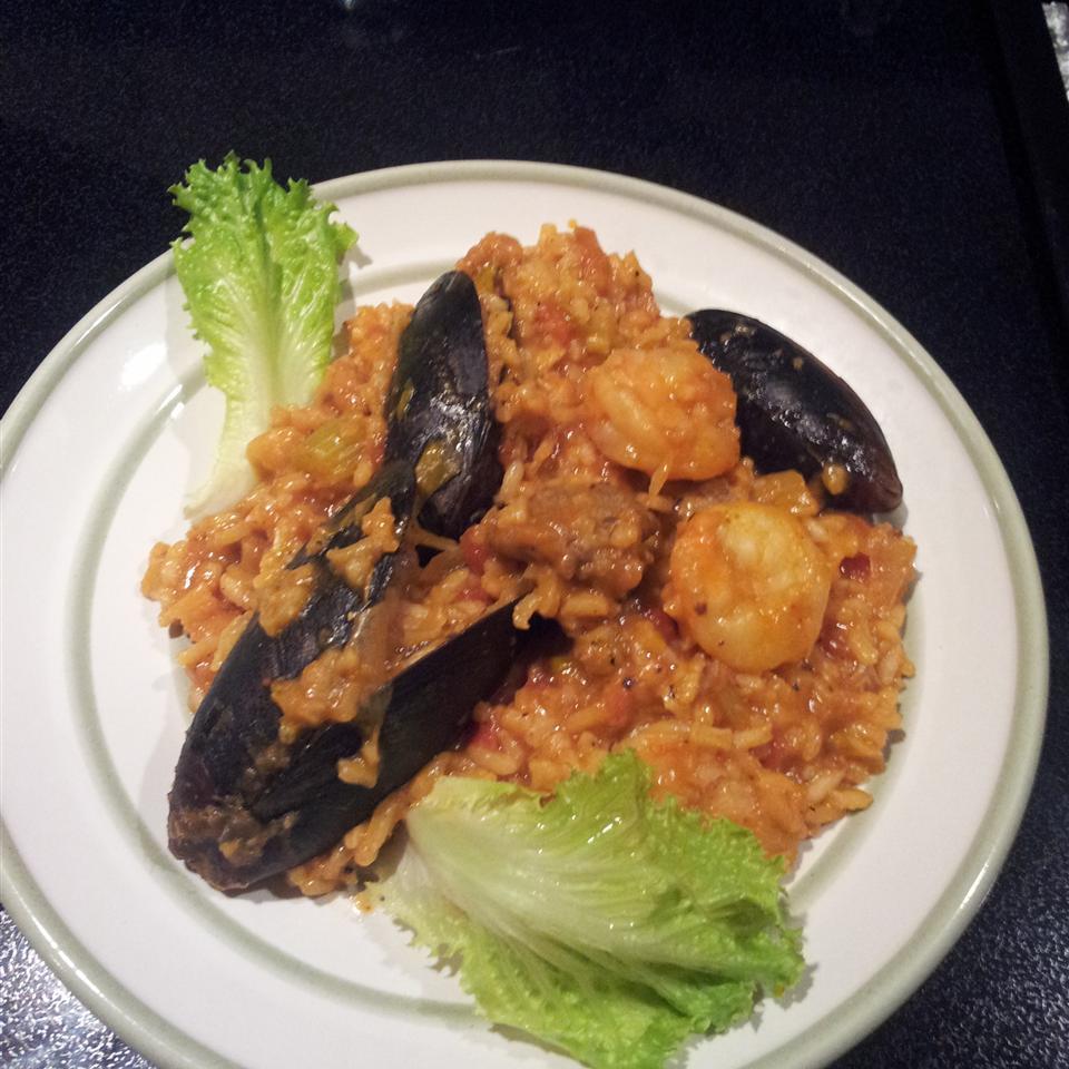 Shrimp, Sausage, and Fish Jambalaya Lommen's