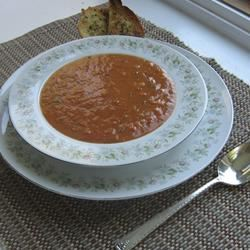Hearty Hot or Cold Roasted Tomato Soup ChristineM