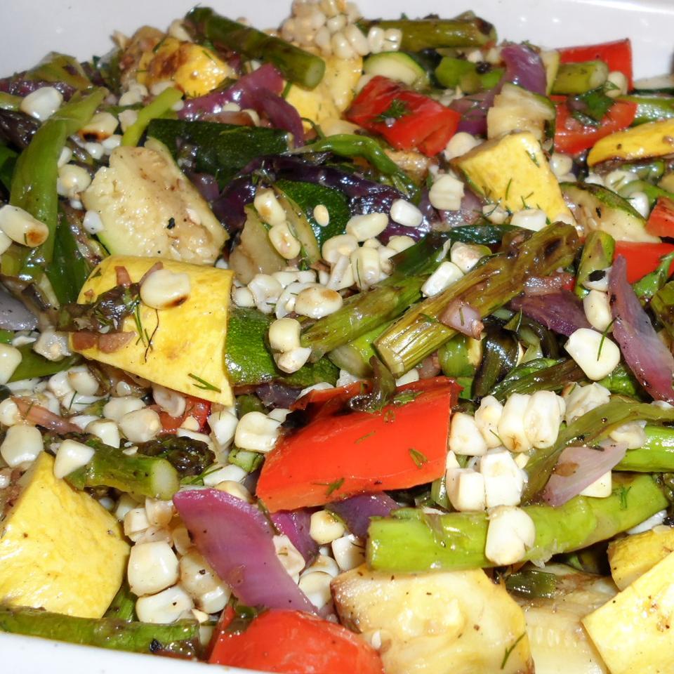 Grilled Vegetable Salad with Fresh Herb Vinaigrette Karen Dean Covington