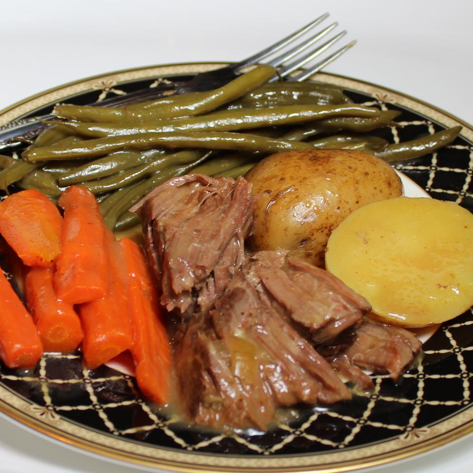 Healthier (but still awesome) Awesome Slow Cooker Pot Roast MakeItHealthy