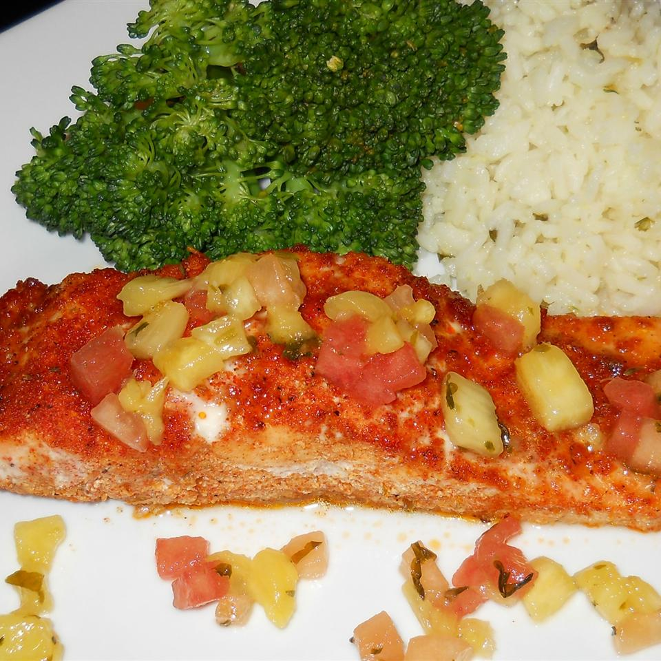Sweet and Spicy Salmon with Grapefruit Salsa shannonferger