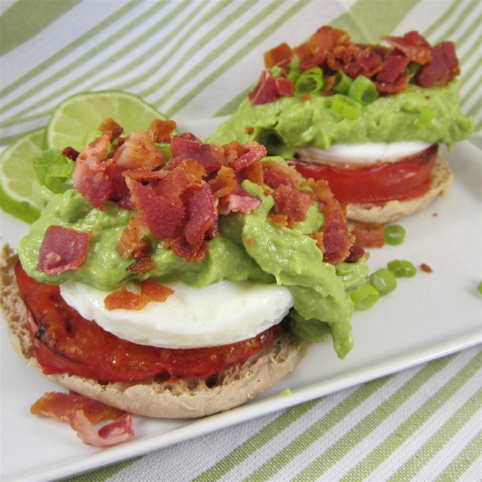 Avocado Sauce Eggs Benedict Deb C