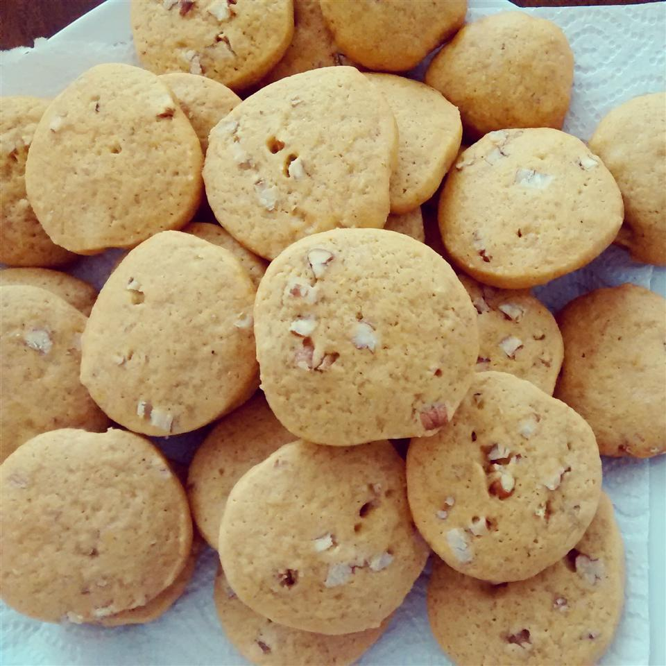 """Recipe creator Pam says these are great cookies """"my southern Grandma used to make."""" Indeed, they're an old-fashioned butterscotch cookie recipe that gets its butterscotch flavor the traditional way, with dark brown sugar, butter, and vanilla. The added pecans are the perfect complement."""
