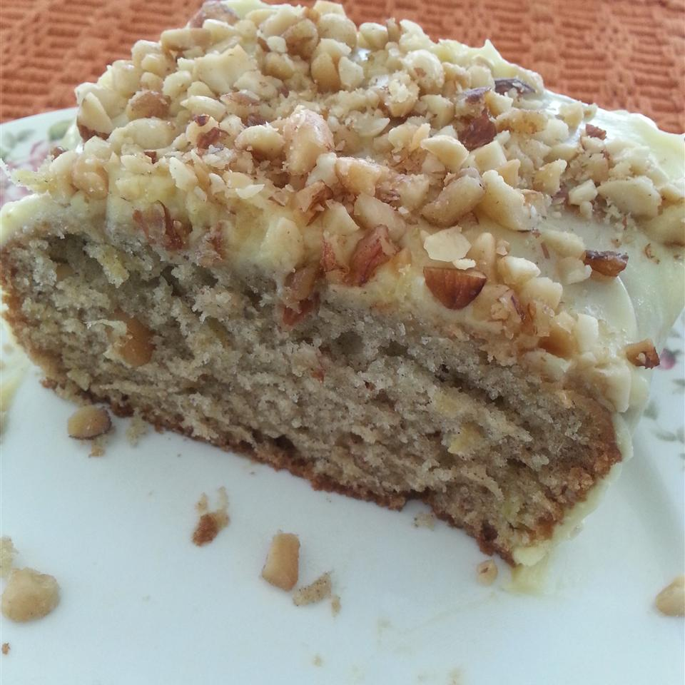 """Crushed pineapple and ripe bananas flavor this spice cake. Home cook Maggie McGuire says, """"This cake was made more delicious by adding 1 teaspoon cinnamon and 1 teaspoon allspice. Also, to enhance the banana flavor I processed the bananas in a blender. For some reason this releases more banana flavor into the cake. This is a moist and rich treat!"""""""