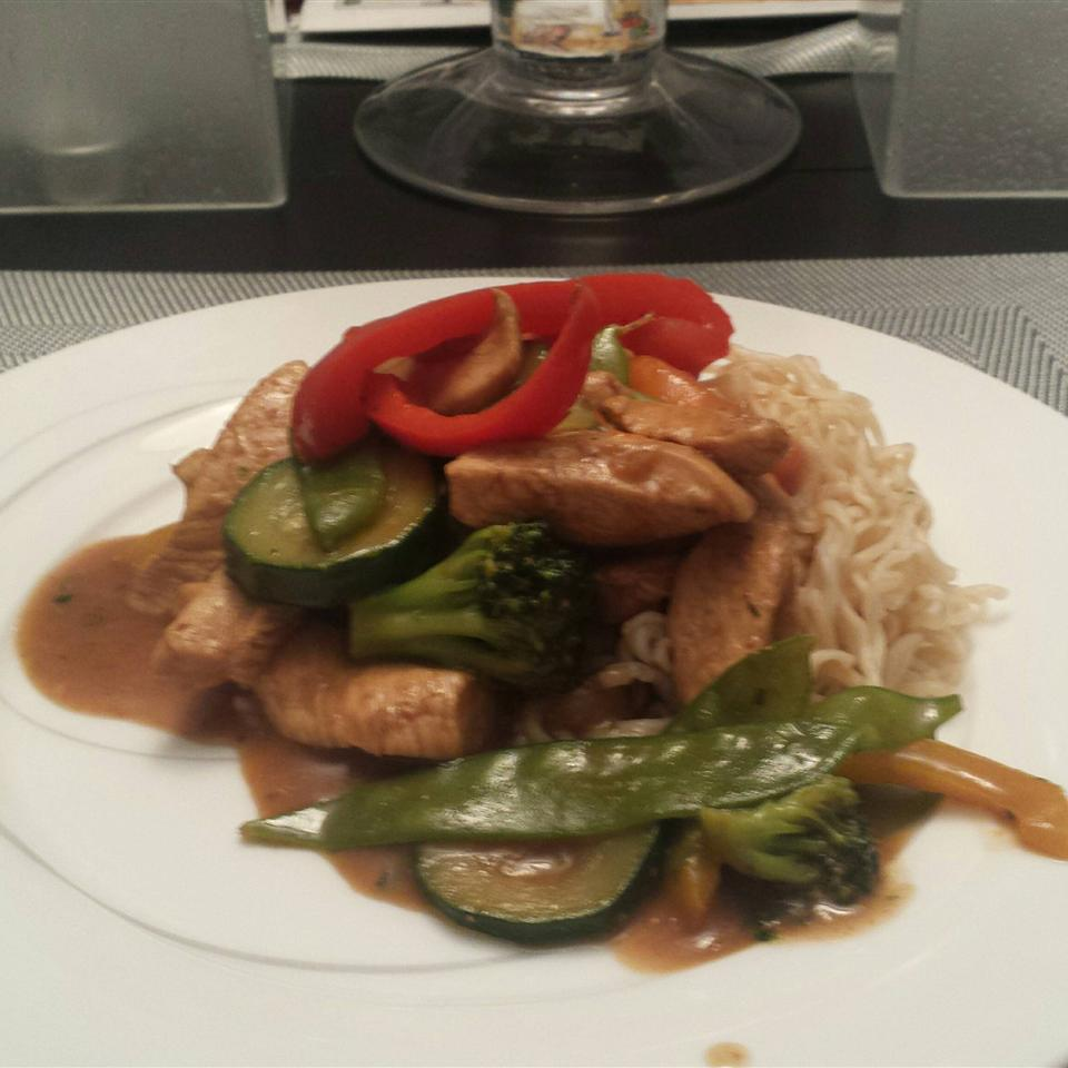 Ramen Noodle Stir-Fry with Chicken and Vegetables