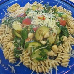 Pasta with Scallops, Zucchini, and Tomatoes Die Hummel