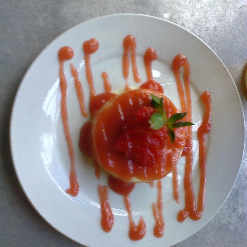 Panna Cotta with Berry Sauce Rawee Josua Ortiz