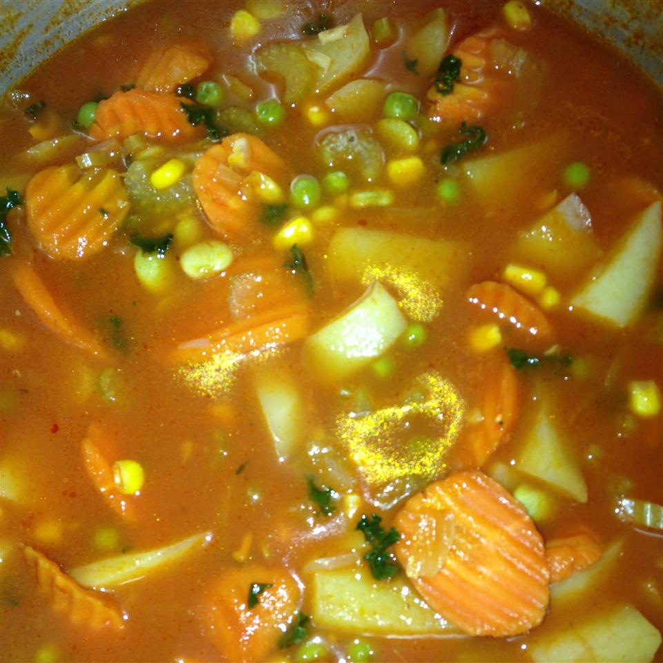 Chunky Vegetarian Vegetable Soup (Fast and Easy) Christy Fernandes