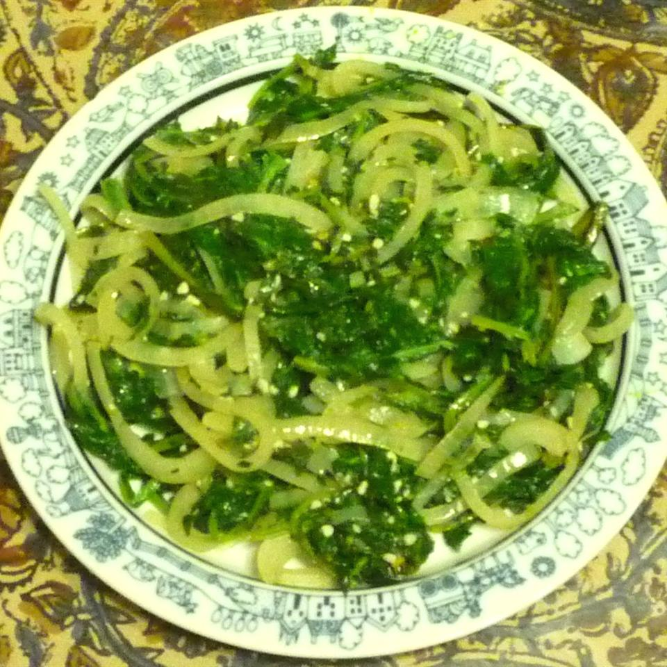 Dandelion Greens with a Kick
