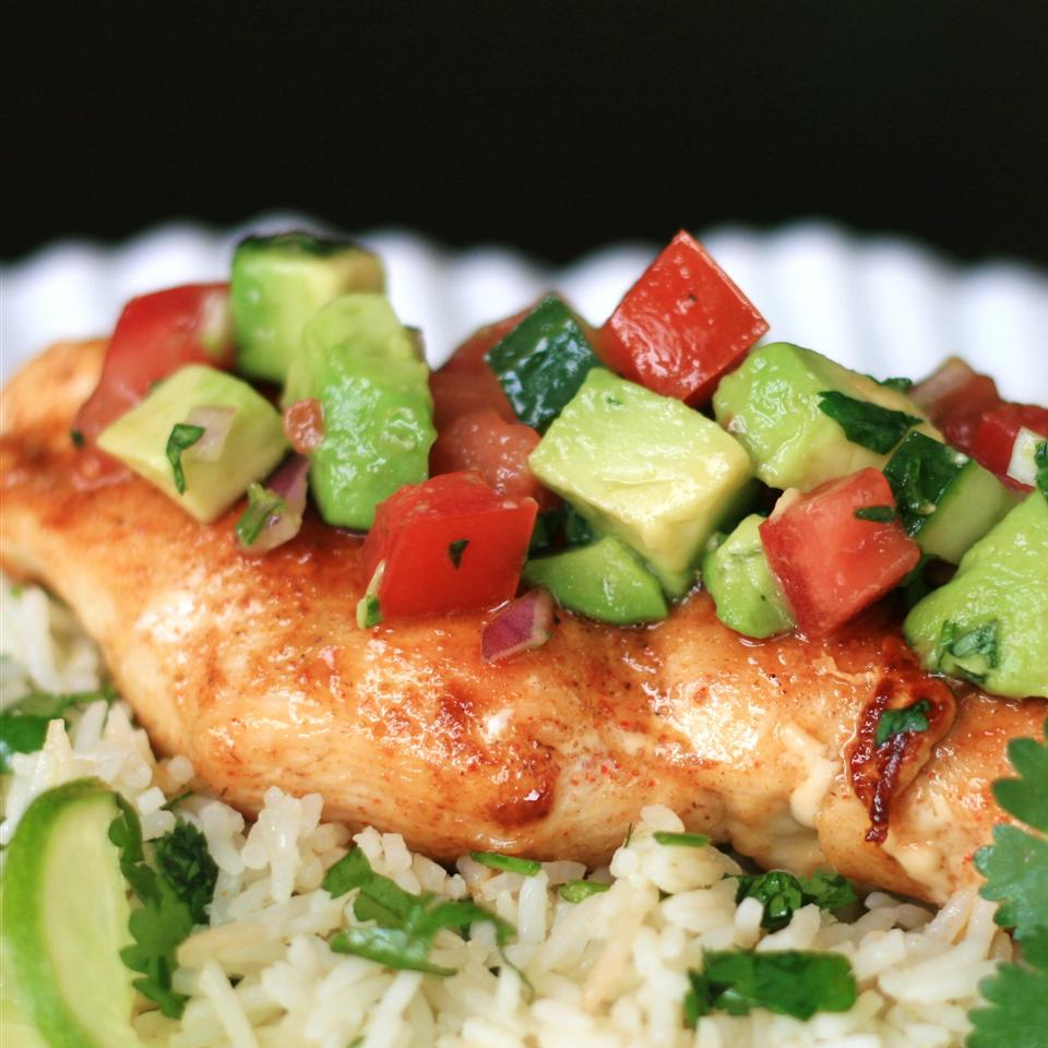 Cumin Rubbed Chicken with Avocado Salsa France C