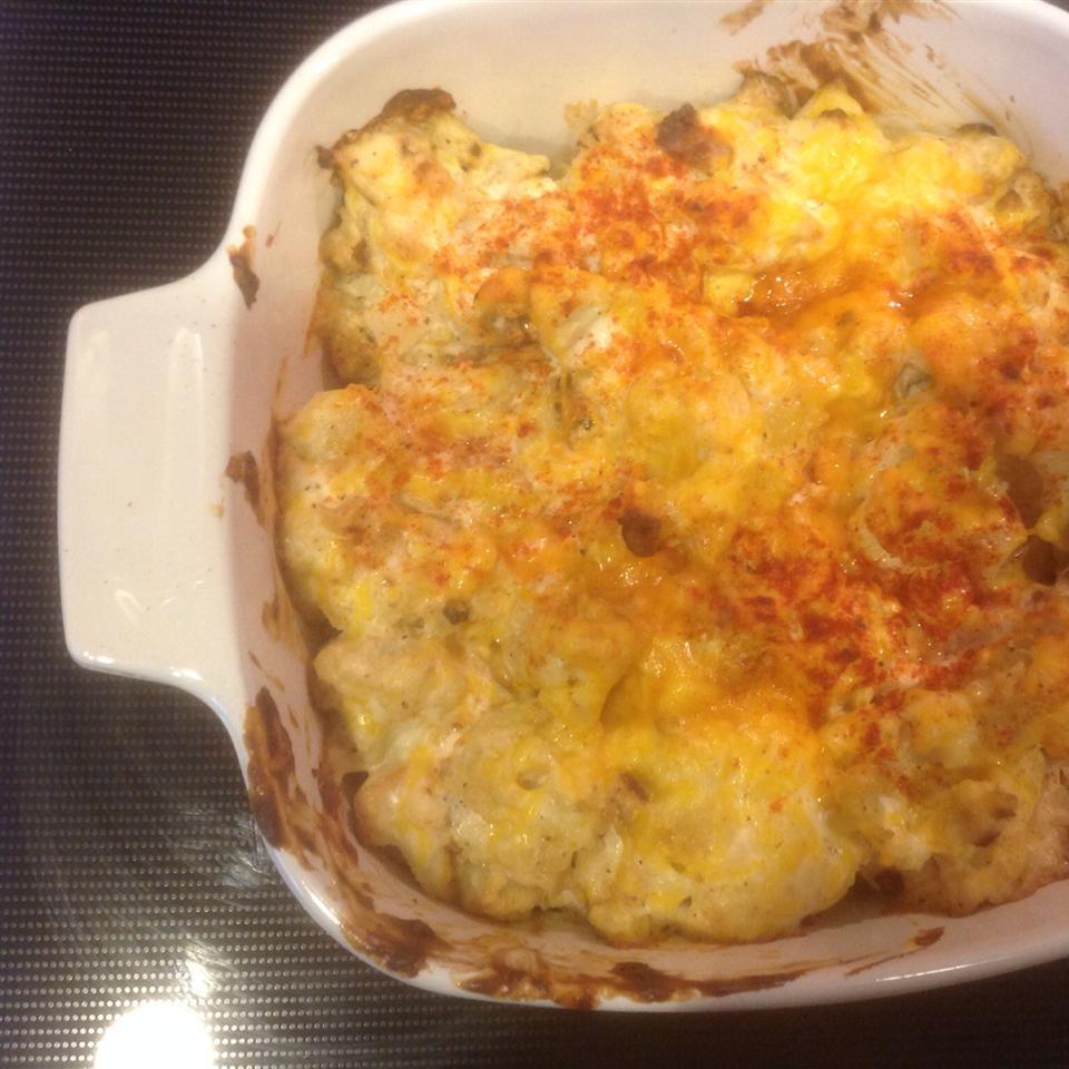 Cheesy Cauliflower Casserole 2hotspouses