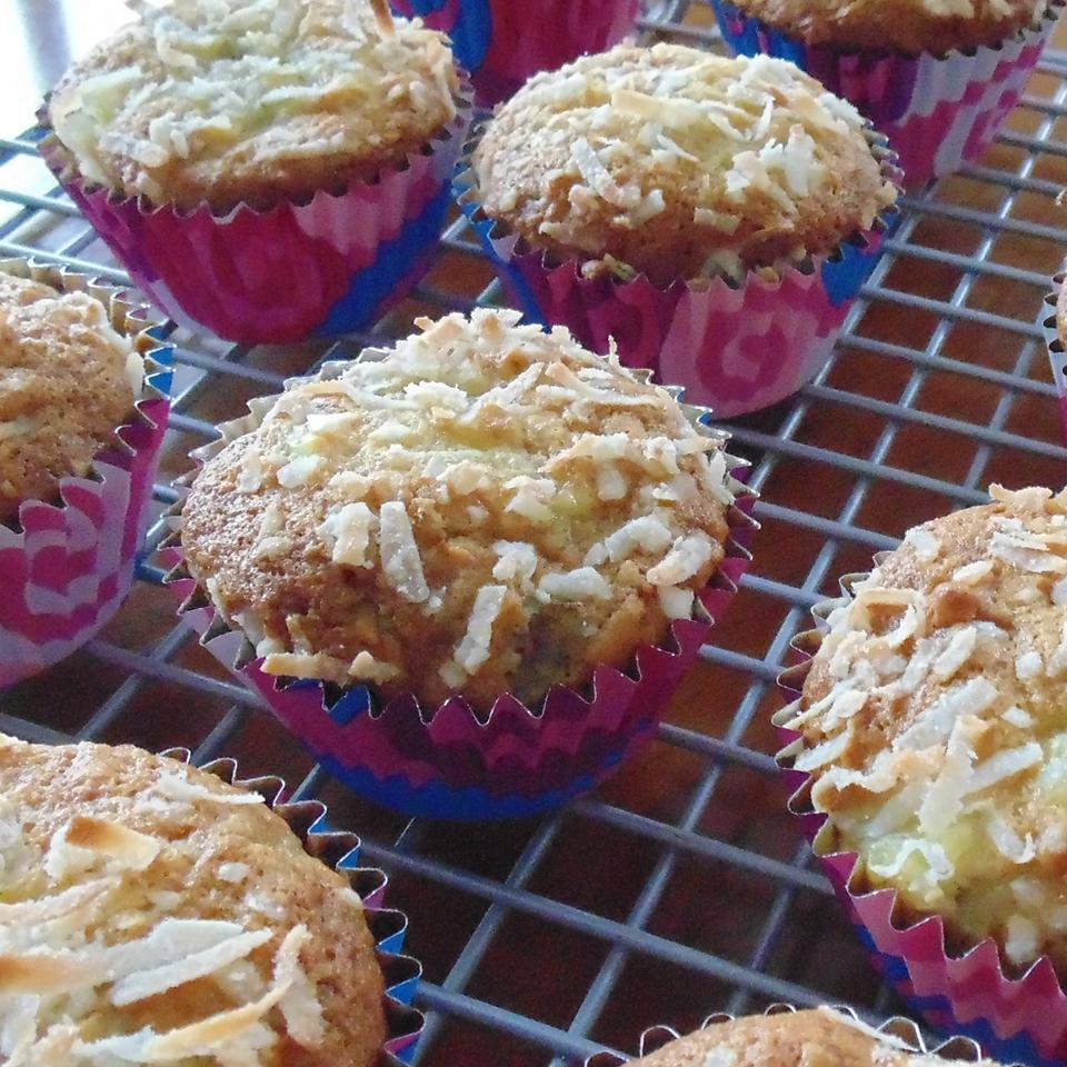 Simple Pina Colada Muffins