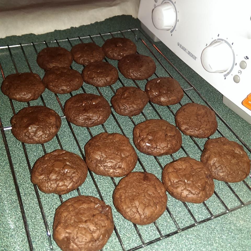 Chocolate Chocolate Chip Cake Cookies