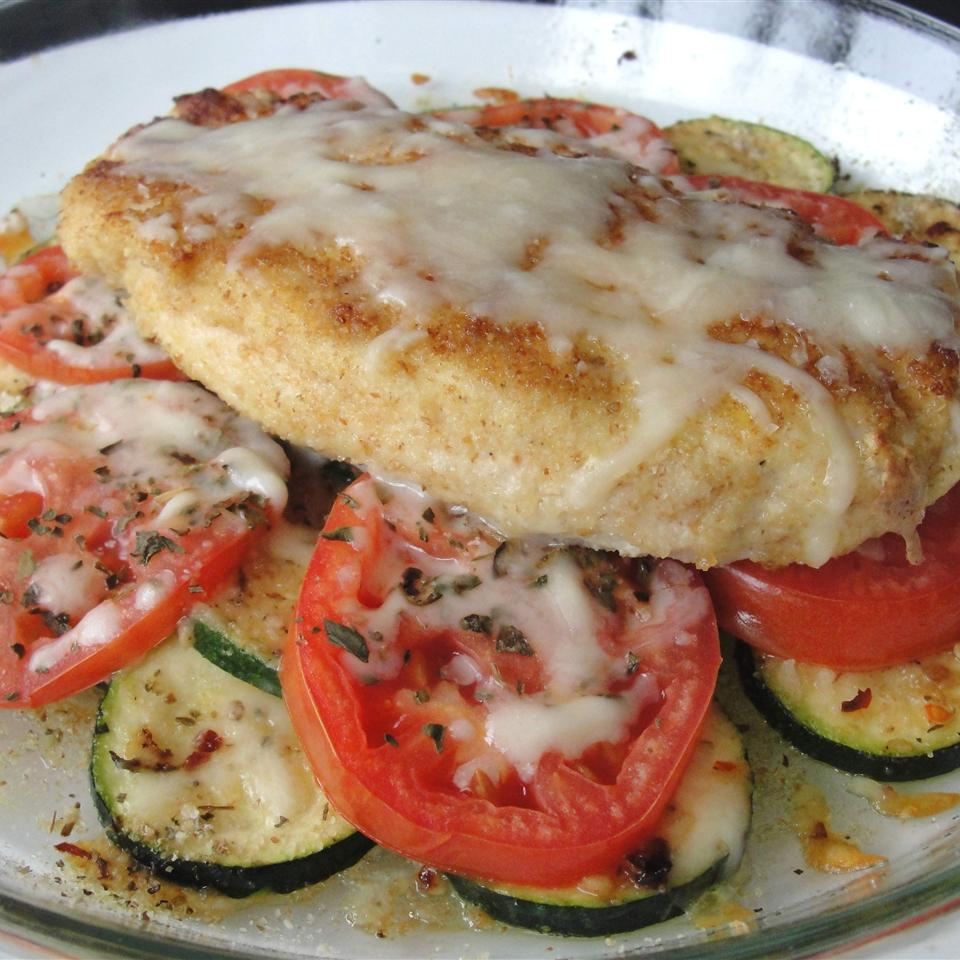 Baked Chicken and Zucchini luaucow