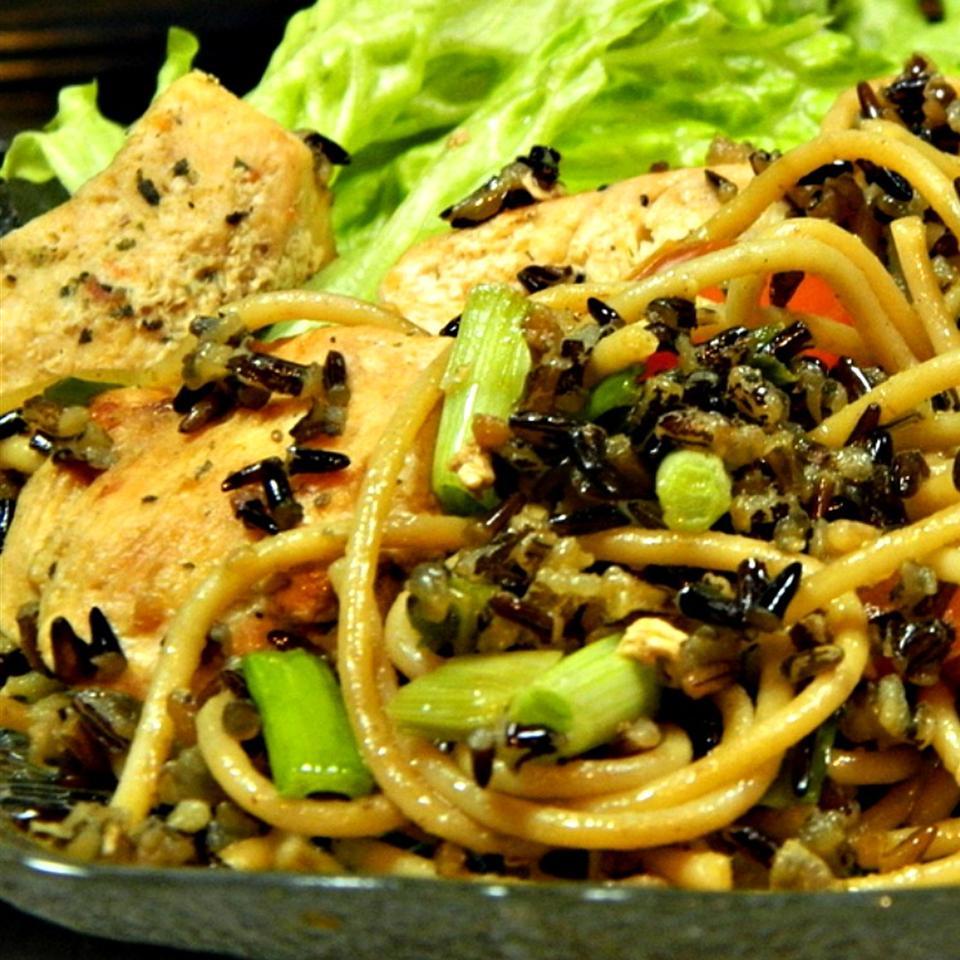 Wild Rice Spaghetti Chicken