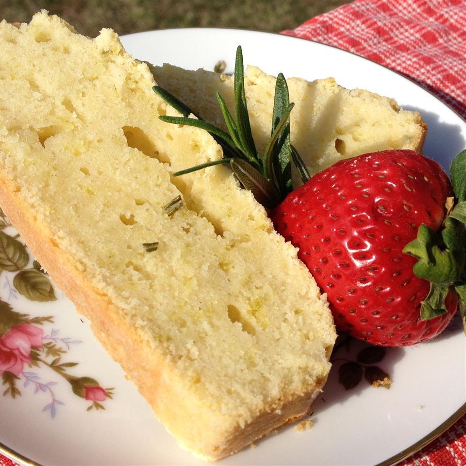 lemon mint pound cake
