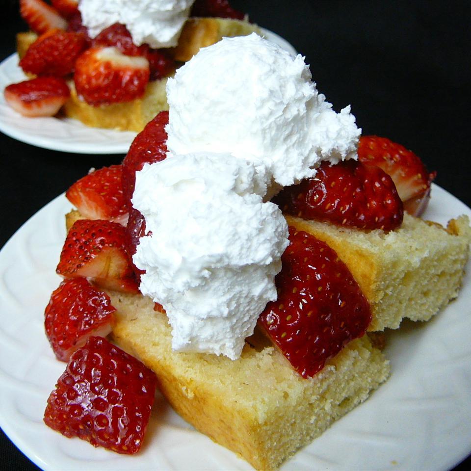 Cottage Pudding (Cake for Strawberry Shortcake) Molly