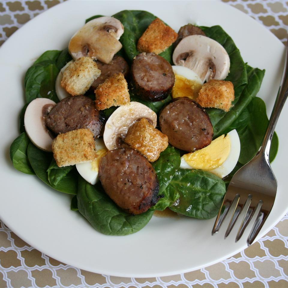 Spinach, Bacon, and Mushroom Salad Jennifer Baker