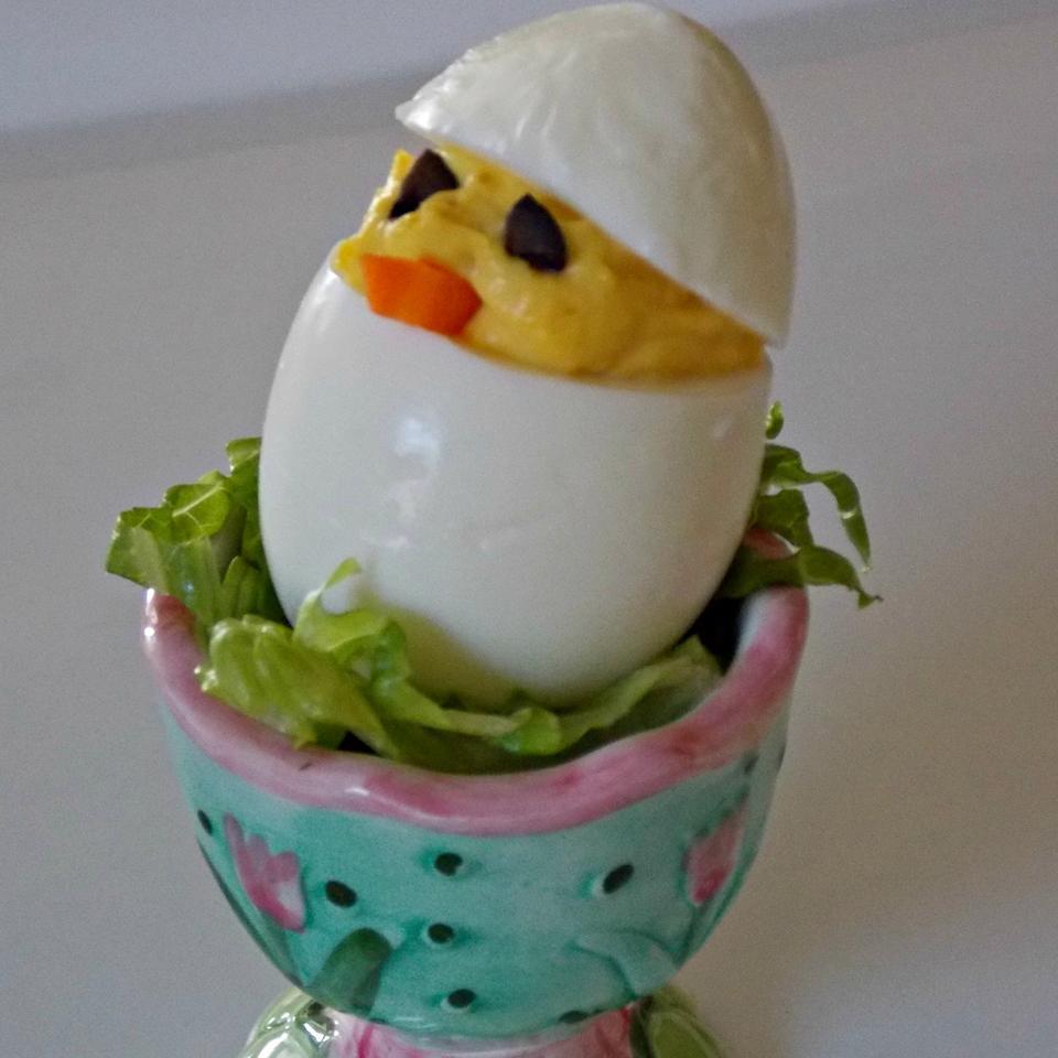 Easter Chick Deviled Eggs Baking Nana