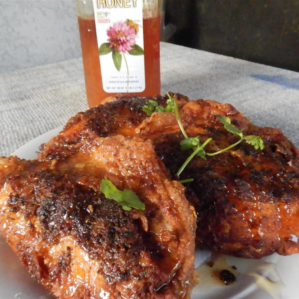 Pecan Honey Glazed Fried Chicken