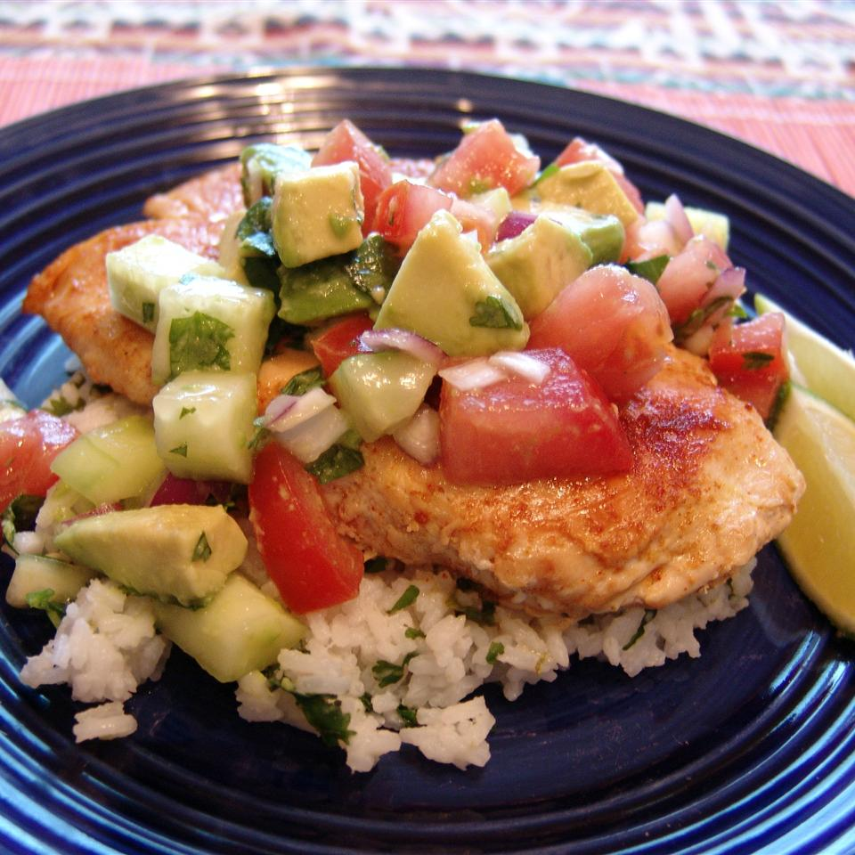 Cumin Rubbed Chicken with Avocado Salsa Happyschmoopies